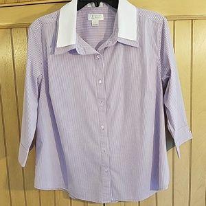 Christopher & Banks gingham print blouse